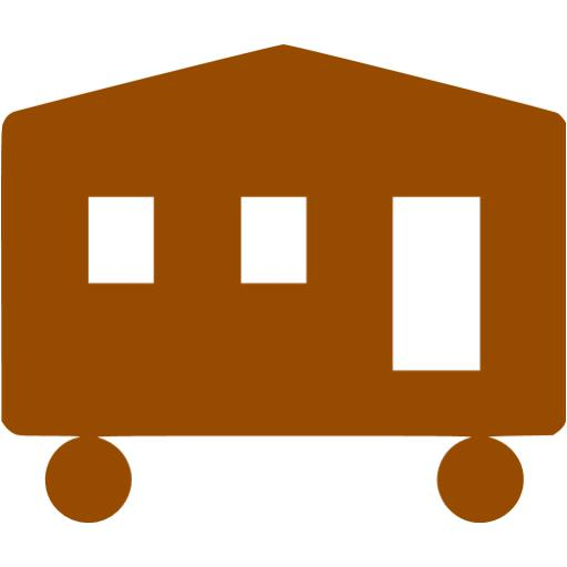 Brown Mobile Home Icon