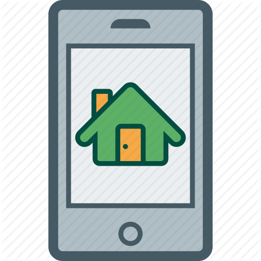 Estate, Home, House, Mobile, Real, Rent, Smartphone Icon