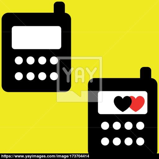 Mobile Icon Black Colour For Business Vector