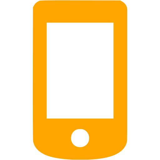 Orange Mobile Phone Icon
