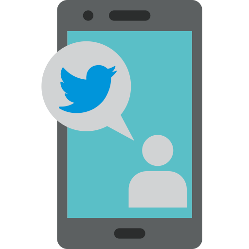 Call, Chat, Message, Mobile, Phone, Twitter Icon