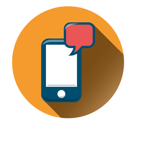Smartphone Chat Circle Icon