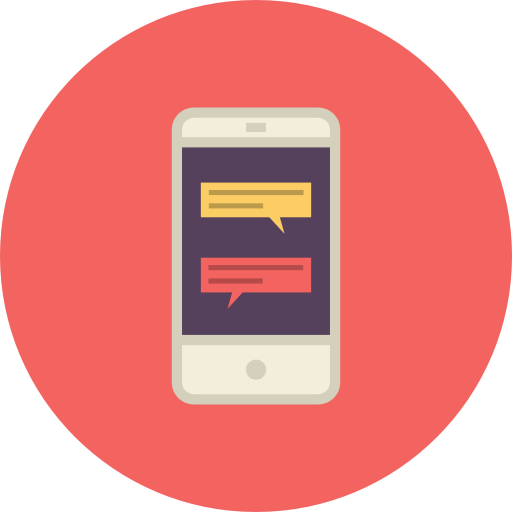 Mobile, Chat, Conversation Icon Free Of Flat Retro