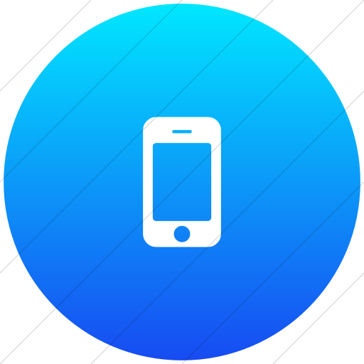 Flat Circle White On Ios Blue Gradient Bootstrap Font