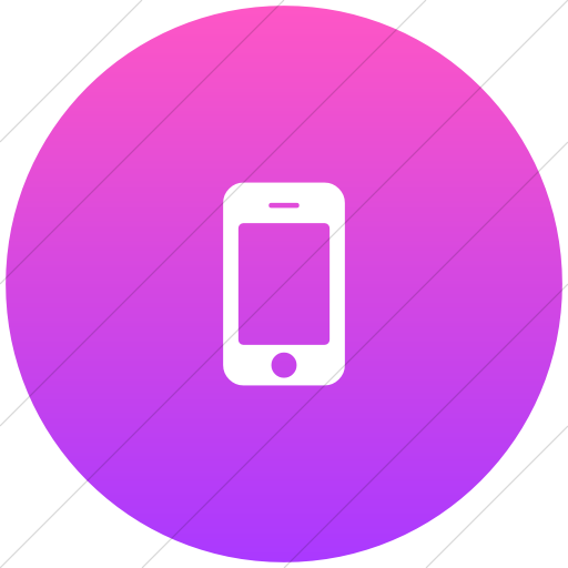Flat Circle White On Ios Pink Gradient Bootstrap Font