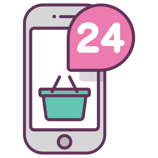 Payment, Mobile, Online Shopping, Hours, Basket, Store Icon