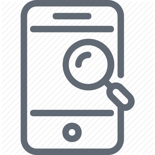 Cell Phone, Magnifier, Magnifying, Mobile, Mobile Search Icon
