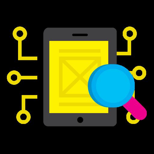 Mobile, Phone, Magnifier, Search, Explore, Implementation