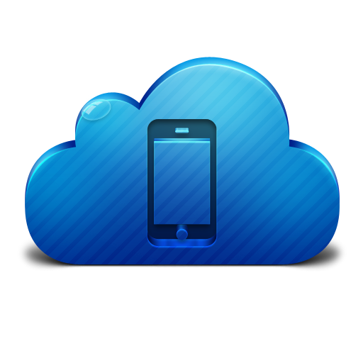 Cloud Mobile Device Icon