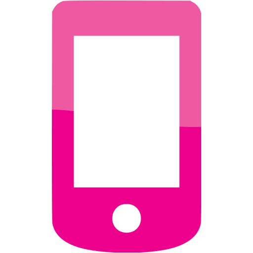 Web Deep Pink Mobile Phone Icon