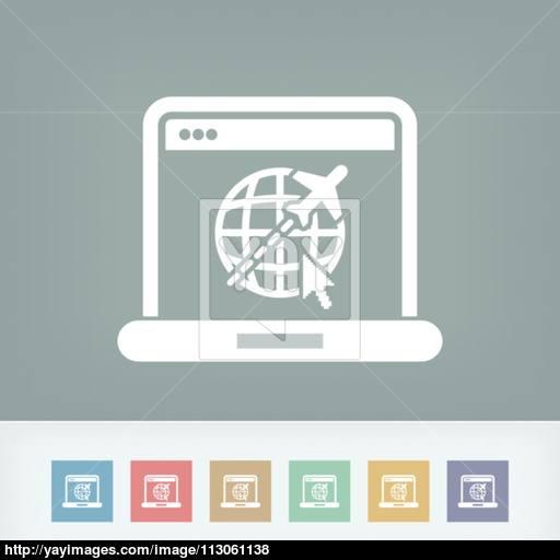 Air Company Website Icon Vector