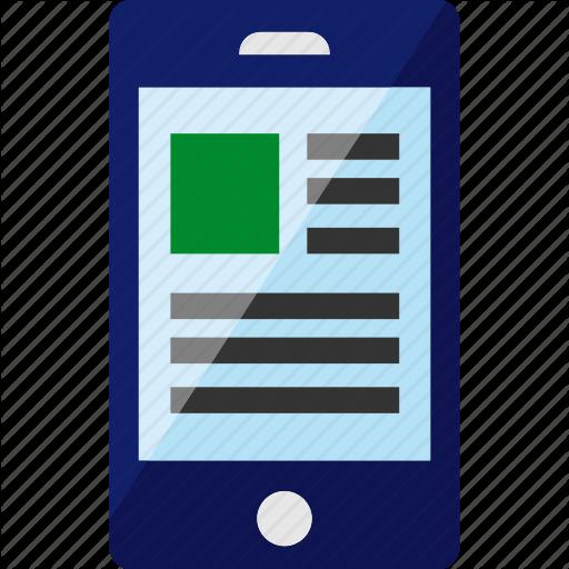 Article, Mobile, Smartphone, Web, Website Icon