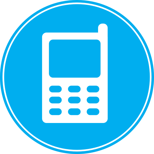 Blue Mobile Phone Graphic Icon Web Icons Png