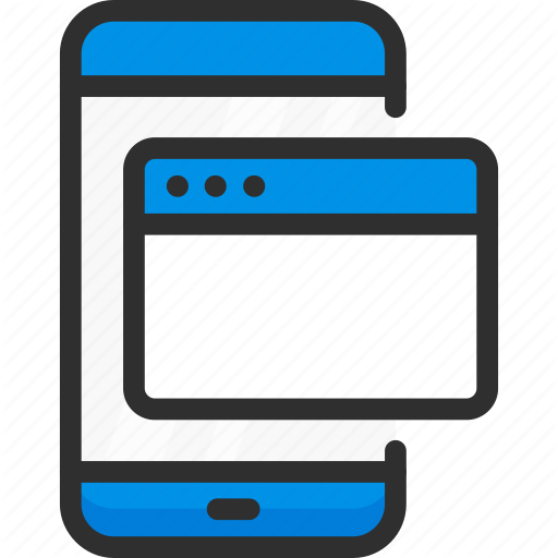 Browser, Mobile, Page, Phone, Smartphone, Web, Website Icon
