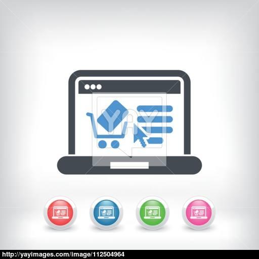 E Commerce Website Icon Vector