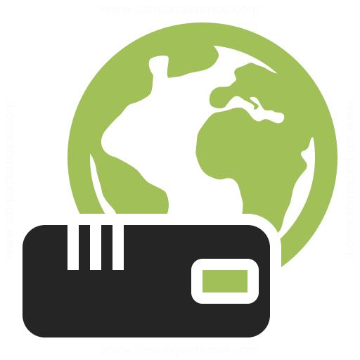 Modem Earth Icon Iconexperience