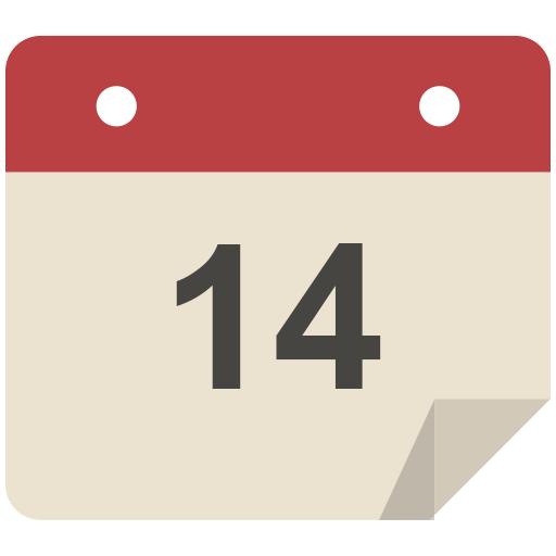 Calendar Icon Flat Retro Modern Iconset Grafikartes