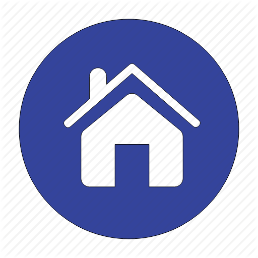Blue House Icon Outline