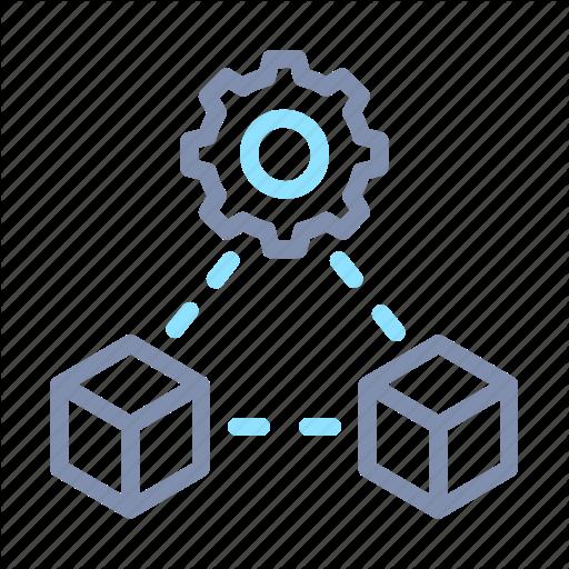 Data, Distribute, Distribution, Module, Processing Icon