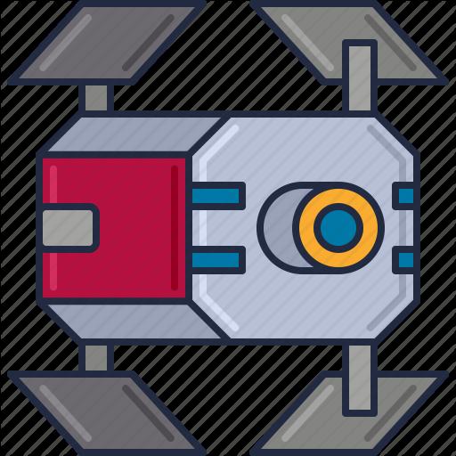Space Module, Space Shuttle, Spacecraft, Spaceship Icon