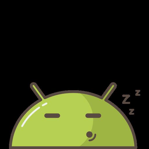 Android Robot Mobiele Slaap, Moe Pictogram Gratis Van