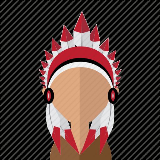America, American, Avatar, Feather, Indian, Men, Mohawk Icon