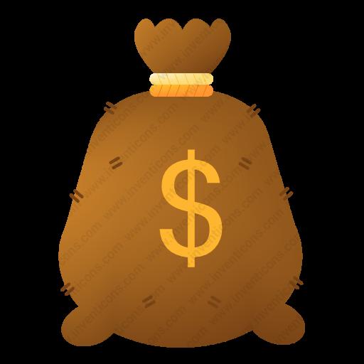 Download Money,bag Icon Inventicons