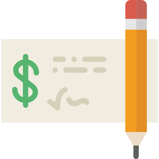 Bank, Business, Payment, Check, Money Icon