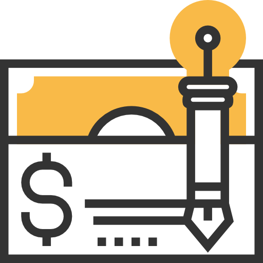 Business And Finance, Check, Bank, Payment, Money, Business Icon