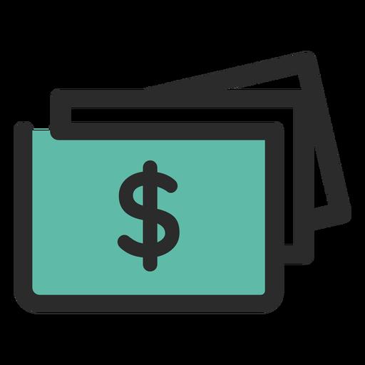 Money Bills Colored Stroke Icon