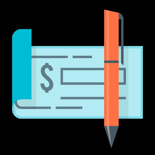 Pen, Check, Finance, Bank, Bank Check Icon