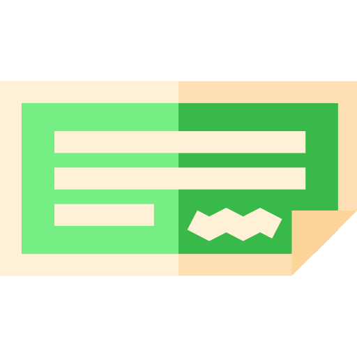Payment, Bank, Business And Finance, Check, Business, Money Icon