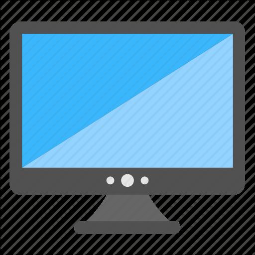 Blue Screen Monitor, Flat Monitor, Lcd, Led, Monitor Icon