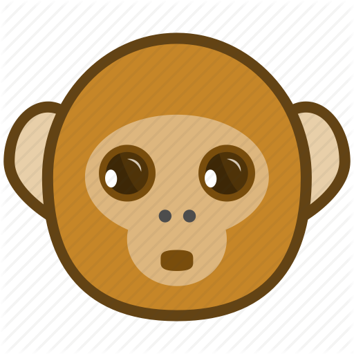 Ape, Cartoon, Emotions, Monkey, Smile, Surprised Icon