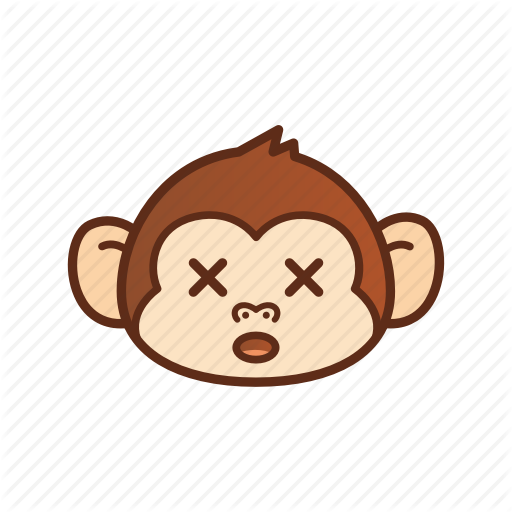 Cross, Cute, Emoticon, Expression, Eye, Funny, Monkey Icon