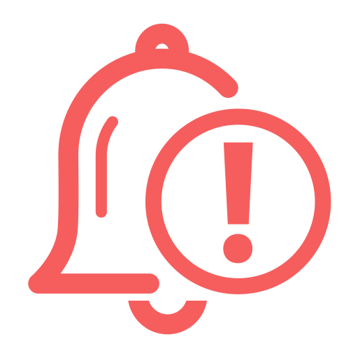 Severe Alarm, Flat, Monochrome Icon With Png And Vector Format