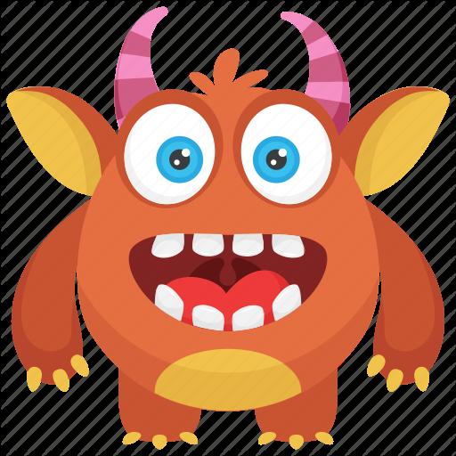 Bacteria Monster, Dirty Creature, Germ Monster, Monster Cartoon