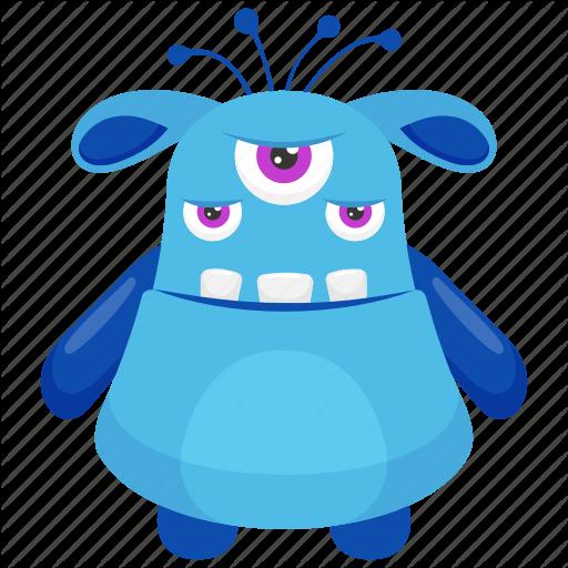 Beast Monster, Eye Ghoul Monster, Halloween Ghost Character