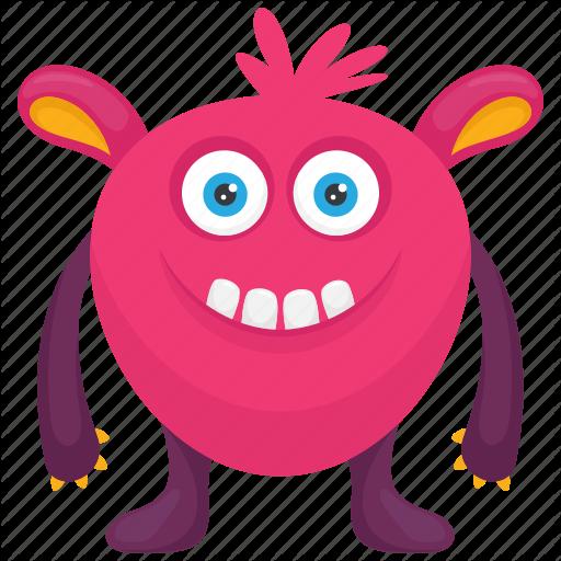 Cartoon Monster, Caterpillar Monster, Demon Monster, Furry Monster