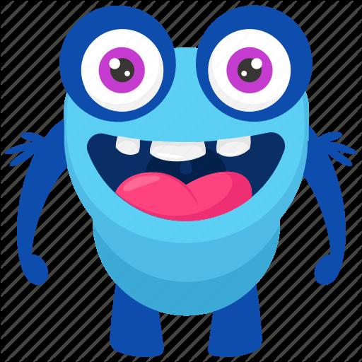 Frog Monster, Funny Monster, Happy Frog Monster, Monster Cartoon