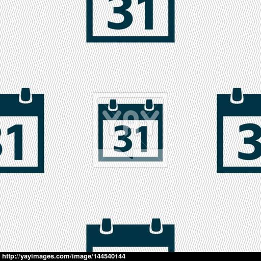 Calendar Sign Icon Day Month Symbol Date Button Seamless