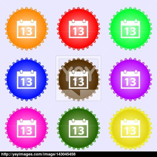 Calendar Sign Icon Days Month Symbol Date Button A Set Of Nine
