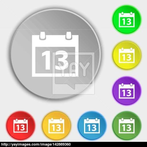 Calendar Sign Icon Days Month Symbol Date Button Symbols