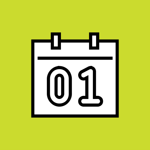 Date, Event, Month, Calendar, Day, January, New Year Icon