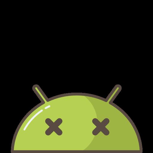 Android, Robot, Mobile, Mood, Emoji, Crash, Bug, Dead Icon Free