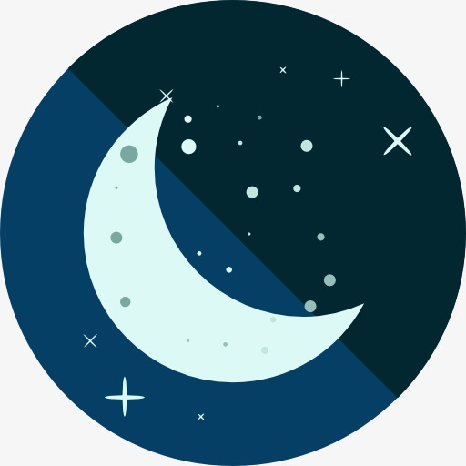 A Moon Icon, Moon Clipart, Moon, Cartoon Png Image And Clipart