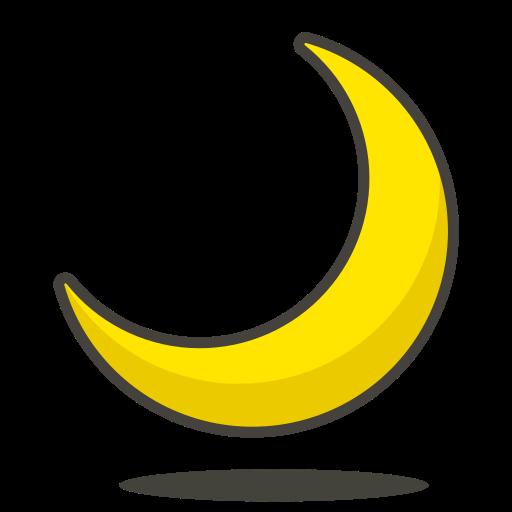 Crescent, Moon Icon Free Of Free Vector Emoji