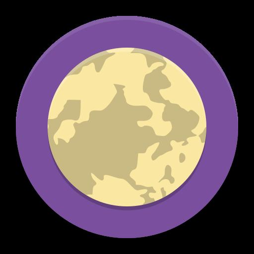 To The Moon Icon Papirus Apps Iconset Papirus Development Team