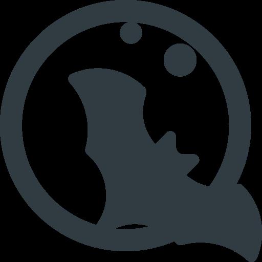 Bat, Halloween, Moon Icon