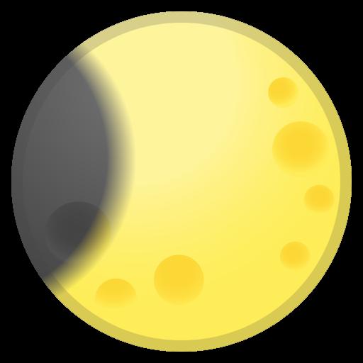 Waning Crescent Moon Icon Noto Emoji Travel Places Iconset